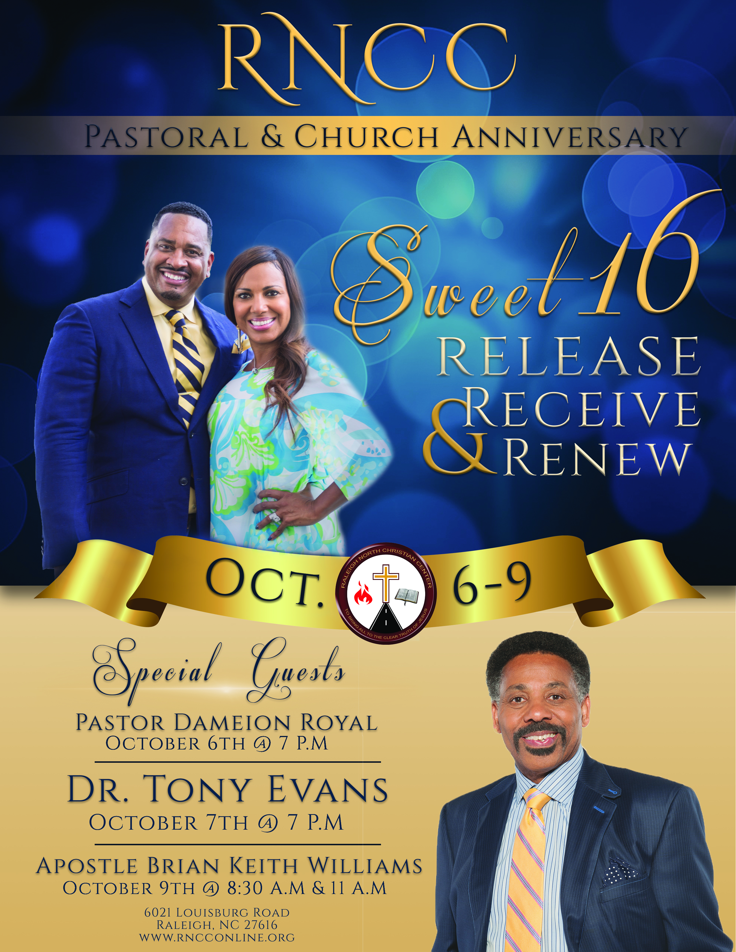 Sweet 16 Pastoral and Church Anniversary with special guest Pastor Dameion Royal